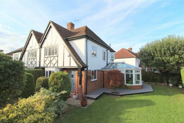 Thumbnail Semi-detached house for sale in Village Way, Ashford, Middlesex