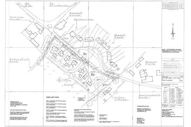 Thumbnail Land for sale in Worlingworth Road, Horham, Eye