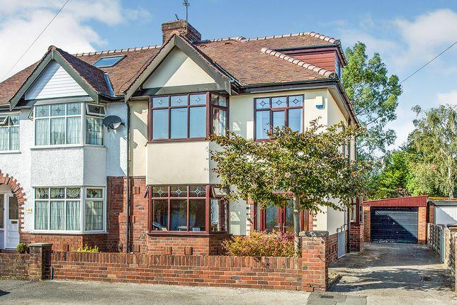 Thumbnail Semi-detached house for sale in Princes Drive, Fulwood, Preston, Lancashire