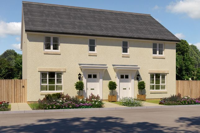 "Thumbnail Semi-detached house for sale in ""Traquair"" at Corseduick Road, Newmachar, Aberdeen"
