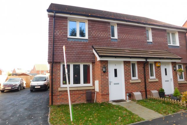 Thumbnail Semi-detached house to rent in Edison Spur, Portsmouth