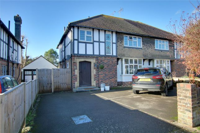Thumbnail Semi-detached house for sale in George V Avenue, West Worthing, West Sussex