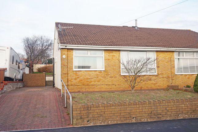Thumbnail Semi-detached bungalow for sale in Gelliron, Duffryn Park, Penpedairheol