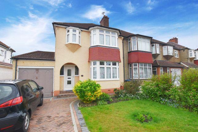 Thumbnail Semi-detached house to rent in Ridgemount Avenue, Croydon