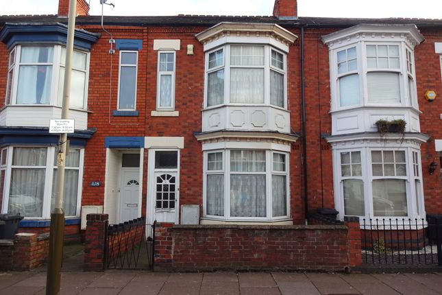 Thumbnail 3 bed terraced house for sale in Fosse Road South, Leicester