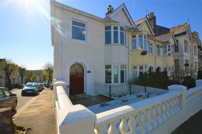 Thumbnail End terrace house for sale in Peverell Park Road, Plymouth, Devon