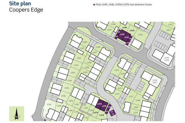 Siteplan of Coopers Edge, Hawthorne Close, Brockworth Gloucestershire GL3