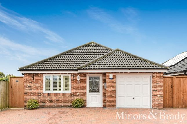 Thumbnail Detached bungalow for sale in Bridge Meadow, Hemsby, Great Yarmouth