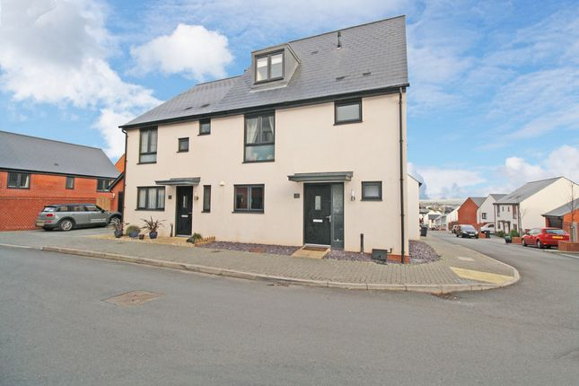 Thumbnail Semi-detached house for sale in Old Quarry Drive, Exminster, Exeter