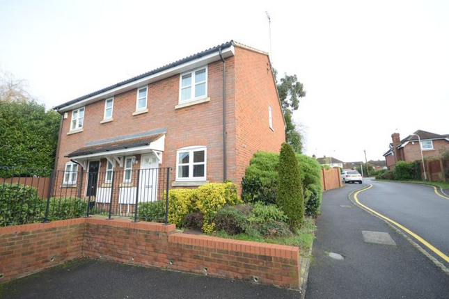 Thumbnail End terrace house to rent in Orpington Close, Twyford, Reading