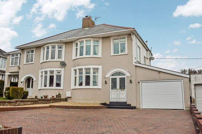 Thumbnail Semi-detached house for sale in Bryntirion Hill, Bridgend, Bridgend County.
