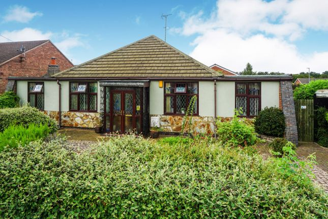 Thumbnail Detached bungalow for sale in Colby Drive, Leicester