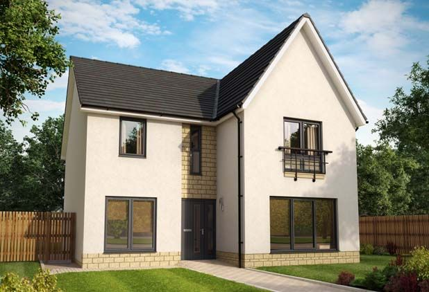 Thumbnail Detached house for sale in Plot 68, The Amethyst Garden Room, Fair Acres At Bowmont Terrace, Dunbar