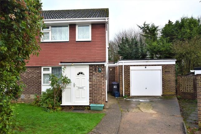 Thumbnail Semi-detached house for sale in Lowick Court, Moulton, Northampton