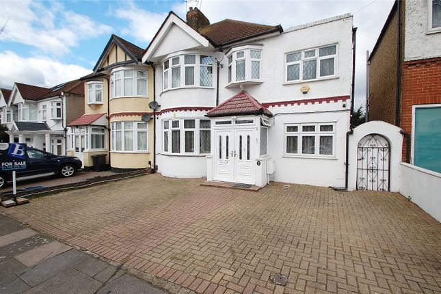 Thumbnail Semi-detached house for sale in Vista Drive, Ilford