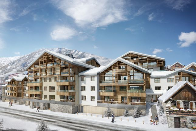 Exterior of Alpe D'huez, Isere, France