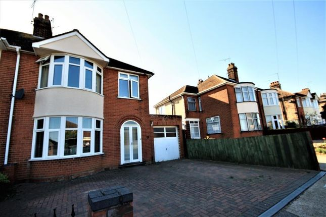 Thumbnail Semi-detached house to rent in Beechcroft Road, Ipswich, Suffolk