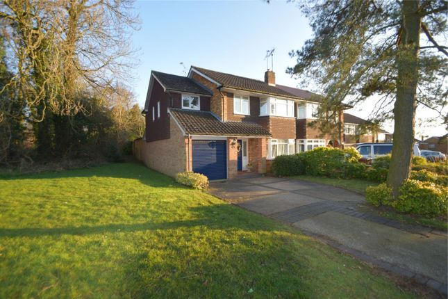 Thumbnail Semi-detached house for sale in Woodland Way, Stevenage, Hertfordshire