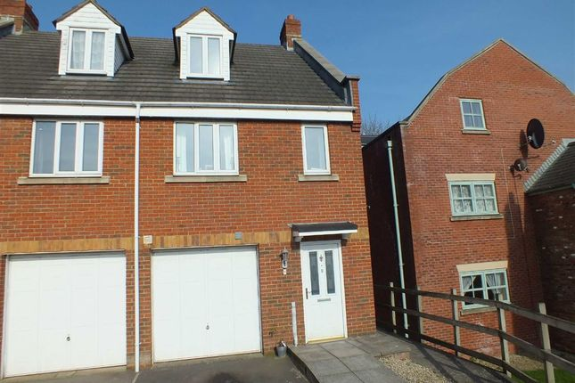 Thumbnail Town house to rent in Manley Close, Trowbridge, Wiltshire