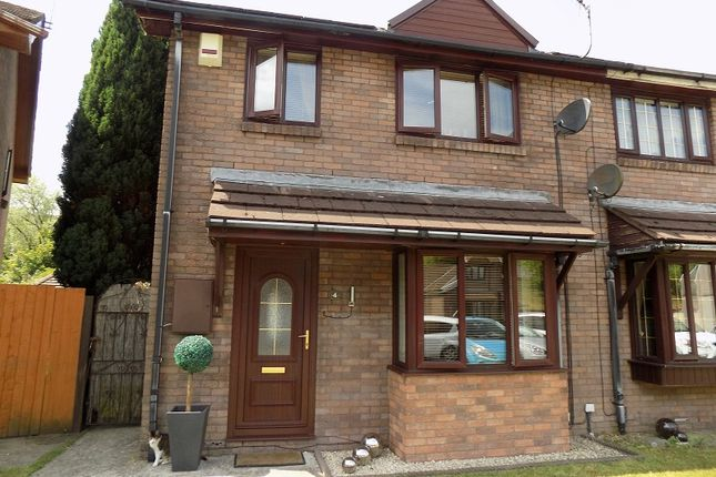 Thumbnail Semi-detached house for sale in Elizabeth Close, Lewis Street, Pentre, Rhondda Cynon Taff.