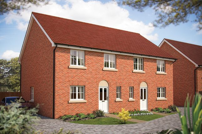 "Thumbnail Semi-detached house for sale in ""The Chertsey"" at Foxhall Road, Ipswich"