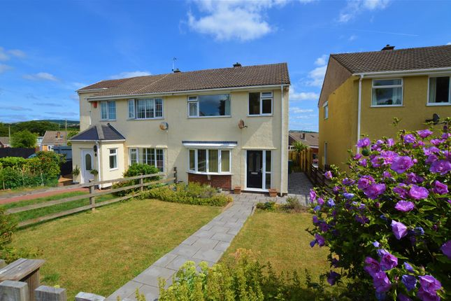Thumbnail Semi-detached house for sale in Llanharry Road, Brynsadler, Pontyclun