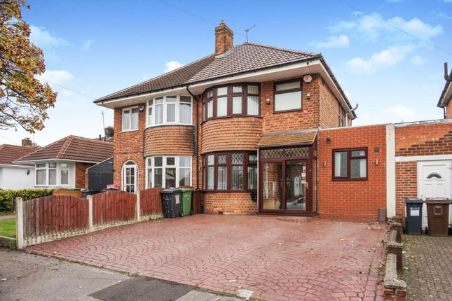 Thumbnail Semi-detached house for sale in Marcot Road, Solihull
