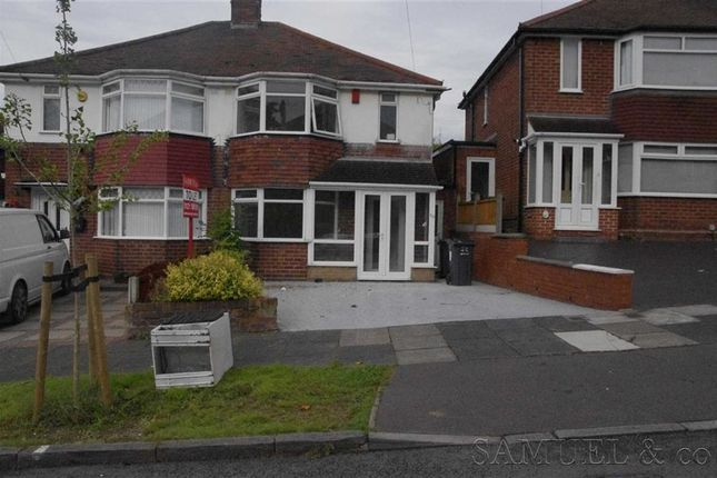 Thumbnail Semi-detached house to rent in Charnwood Road, Great Barr, Birmingham