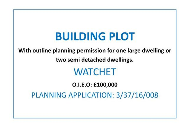 Thumbnail Land for sale in Brendon Road, Watchet