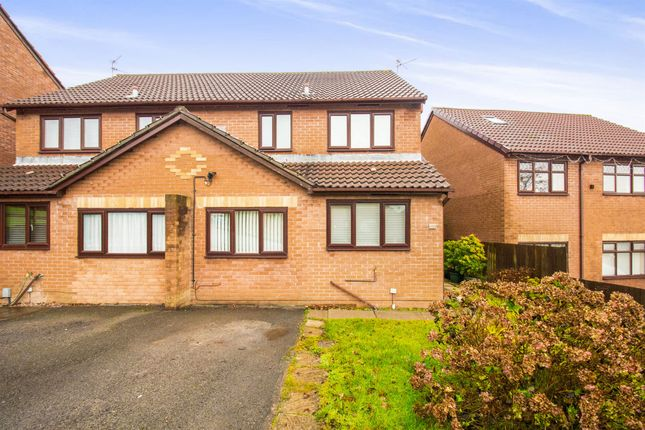 Thumbnail Semi-detached house for sale in Heather Court, Ty Canol, Cwmbran