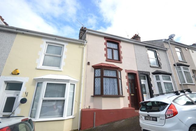 Thumbnail Terraced house for sale in Welsford Avenue, Stoke, Plymouth