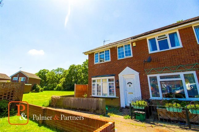 Thumbnail End terrace house for sale in Twining Road, Westlands, Colchester
