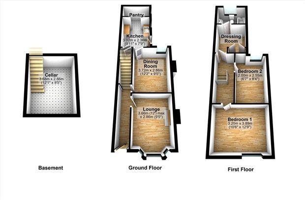 Floor Plan of Edward Street, Carnforth LA5