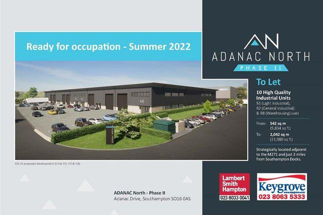 Thumbnail Light industrial to let in Phase II, Adanac North, Adanac Drive, Nursling, Southampton