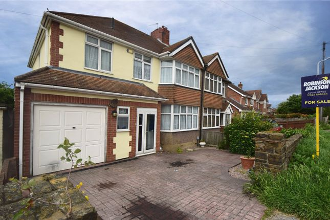 Thumbnail Semi-detached house for sale in West View Road, Swanley, Kent