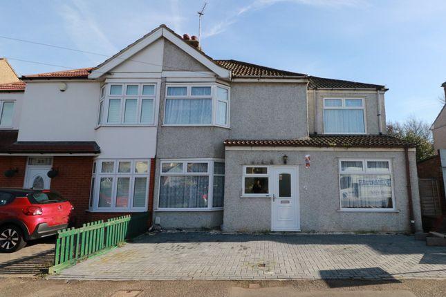 Thumbnail Semi-detached house to rent in Manser Road, Rainham, Essex