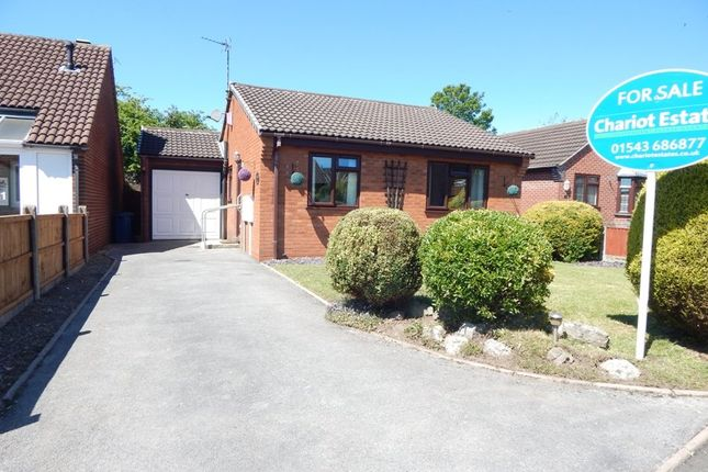 Thumbnail Detached bungalow for sale in Griffin Close, Chase Terrace, Burntwood