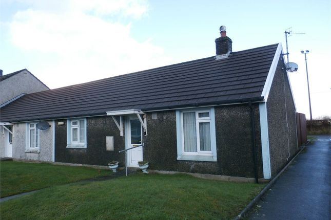 Thumbnail Terraced bungalow for sale in Maesamlwg, Tregaron, Ceredigion