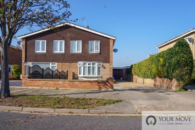 Thumbnail Semi-detached house to rent in Beverley Close, Lowestoft