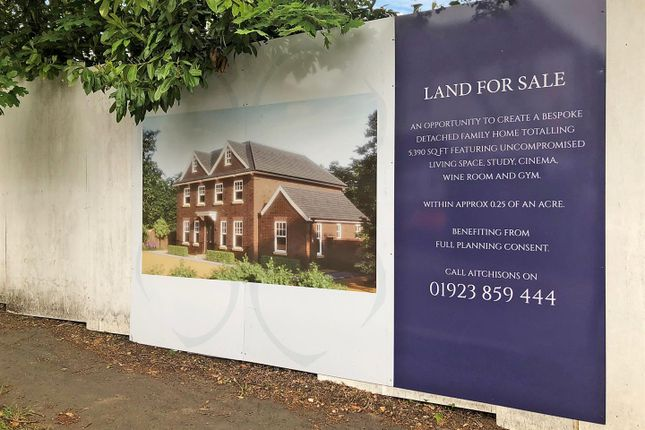 Thumbnail Land for sale in Christchurch Crescent, Radlett