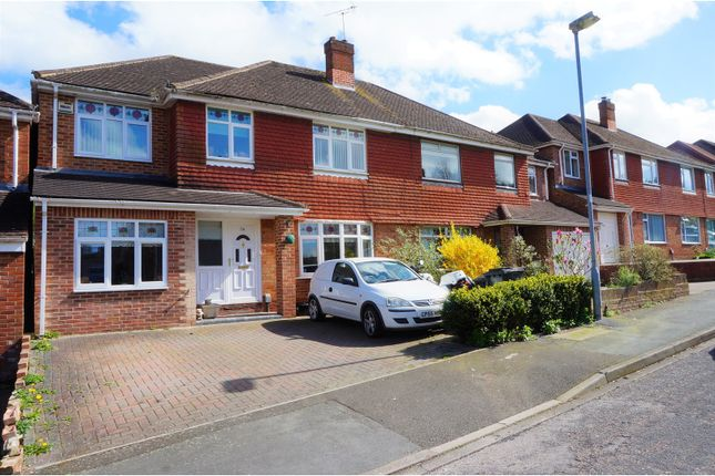 Thumbnail Semi-detached house for sale in Buckingham Road Lawn, Swindon