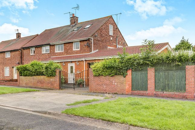 Thumbnail Semi-detached house for sale in Whitton Gardens, North Shields