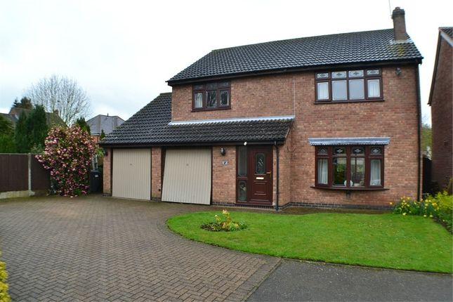 4 bed detached house for sale in Pinetree Close, Newbold Verdon, Leicestershire
