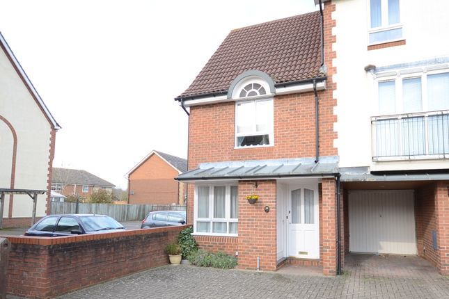 Thumbnail End terrace house to rent in Hartigan Place, Woodley, Reading