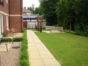 Communal Garden of Westgate, Mill Street, Derby, Derbyshire DE1