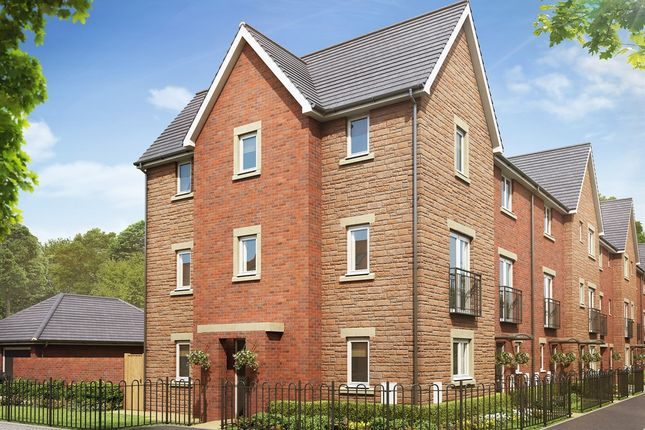 "Thumbnail Town house for sale in ""The Ash "" at Brickburn Close, Hampton Centre, Peterborough"