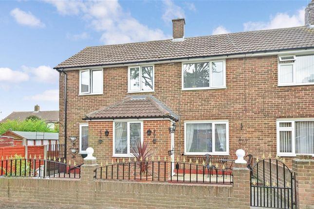 Thumbnail End terrace house for sale in Bodiam Close, Twydall, Gillingham, Kent