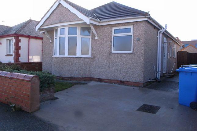 Thumbnail Detached bungalow to rent in Bridgegate Road, Rhyl