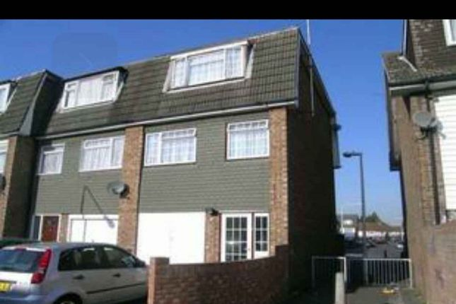 Thumbnail End terrace house to rent in Young Road, Canning Town E16, London,