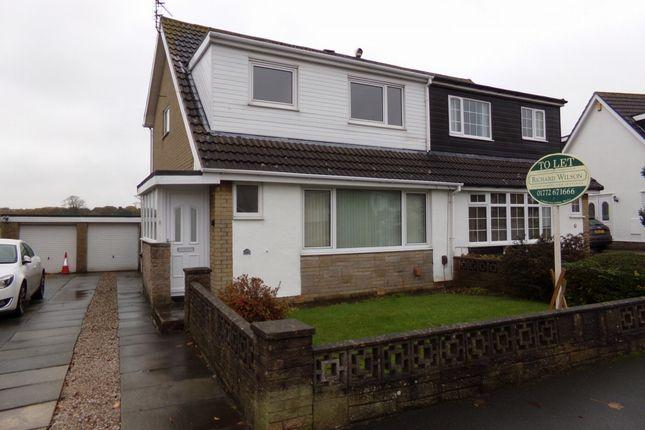 Thumbnail Semi-detached house to rent in Park Lane, Wesham, Preston